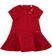 Elegante abitino in particolare tessuto floreale sarabanda ROSSO - 2253