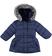 Piumino invernale per bambina foderato in eco pelliccia sarabanda NAVY - 3854