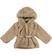 Ecopelliccia per bambina con cappuccio e cintura con cuore sarabanda BEIGE - 0414