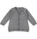 Cardigan in tricot con balza in pizzo sarabanda GRIGIO MELANGE - 8993