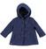 Morbido cappotto per bambina con alamari sarabanda NAVY - 3854