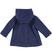 Morbido cappotto per bambina con alamari sarabanda NAVY - 3854 back
