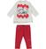 Completo maxi maglietta e leggings con orsetti polari sarabanda PANNA-ROSSO-8135