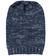 Cappellino per bambina in tricot screziato sarabanda NAVY - 3854