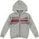 Felpa per bambino in tricot di cotone con cappuccio sarabanda GRIGIO-NERO-6R12