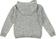 Felpa per bambino in tricot di cotone con cappuccio sarabanda GRIGIO-NERO - 6R12 back