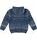 Cardigan bambino in tricot misto cotone e lana sarabanda NAVY - 3657 back