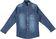 Camicia bambino in denim di cotone elasticizzato sarabanda STONE WASHED - 7450