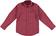 Camicia per bambino in popeline stretch di cotone sarabanda PANNA-BORDEAUX - 6N92