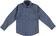 Camicia per bambino in popeline stretch di cotone sarabanda PANNA-BLU - 6R43
