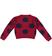 Versatile e comoda maglia corta a pois per bambina sarabanda BORDEAUX - 2537 back
