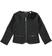 Elegante giacca per bambina in bouclè sarabanda NERO - 0658