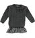 Completo due pezzi per bambina con mini abito scamiciato sarabanda GRIGIO SCURO MELANGE - 8963