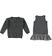 Completo due pezzi per bambina con mini abito scamiciato sarabanda GRIGIO SCURO MELANGE - 8963 back
