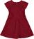 Elegante vestitino bambina in raffinato tessuto goffrato sarabanda BORDEAUX - 2537 back