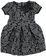 Vestitino per bambina in elegante tessuto goffrato jacquard sarabanda GRIGIO SCURO MELANGE - 8963
