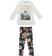 Comodo e trendy completo bambina con leggings floreale sarabanda PANNA - 0112
