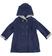 Cappotto bambina monopetto in morbido panno laniero sarabanda NAVY - 3854