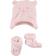 Simpatico kit unisex in morbida pelliccetta sintetica minibanda ROSA - 2711