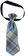 Cravatta per neonato in twill a quadri minibanda GRIGIO-BLU-8225