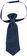 Cravatta per neonato in morbido tessuto armaturato minibanda NAVY-3854