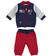 Tuta due pezzi per neonato con giacchetto modello bomber minibanda ROSSO-2536