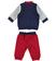 Tuta due pezzi per neonato con giacchetto modello bomber minibanda ROSSO-2536 back