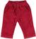 Pantalone in velluto 100% cotone per neonato minibanda ROSSO - 2536