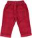 Pantalone in velluto 100% cotone per neonato minibanda ROSSO - 2536 back
