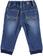 Pantalone neonato in speciale felpa effetto denim con sabbiature minibanda STONE WASHED-7450 back