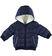 Giubbotto invernale per neonato foderato in eco pelliccia minibanda NAVY - 3854