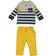 Completo neonato due pezzi con polo e pantalone minibanda GIALLO-1615