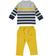 Completo neonato due pezzi con polo e pantalone minibanda GIALLO-1615 back