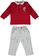 Completo neonato con polo e comodi pantaloni minibanda ROSSO-2536