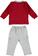 Completo neonato con polo e comodi pantaloni minibanda ROSSO-2536 back