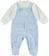 Tutina intera neonato con finta salopette minibanda SKY - 5818