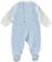 Tutina intera neonato con finta salopette minibanda SKY - 5818 back
