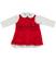 Elegante completino abito e body per neonata minibanda ROSSO-2253