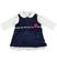 Elegante completino abito e body per neonata minibanda NAVY-3854