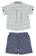 Elegante completino camicia e pantalone corto ido BIANCO-BLU - 8020 back