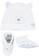Kit cappellino e babbucce in cotone elasticizzato ido BIANCO-AZZURRO-8023