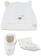 Kit cappellino e babbucce in cotone elasticizzato ido BIANCO-BEIGE-8033