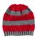 Morbido cappellino modello cuffia maglia rasata ed effetto pelliccia ido GRIGIO-ROSSO-8016