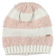 Morbido cappellino modello cuffia maglia rasata ed effetto pelliccia ido PANNA-ROSA - 8146
