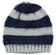 Morbido cappellino modello cuffia maglia rasata ed effetto pelliccia idoGRIGIO-BLU-8225