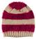 Morbido cappellino modello cuffia maglia rasata ed effetto pelliccia ido BEIGE-ROSSO - 8250