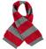 Morbida sciarpa misto lana con bande effetto pellicia e maglia rasata ido GRIGIO-ROSSO-8016