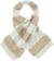 Morbida sciarpa misto lana con bande effetto pellicia e maglia rasata ido PANNA-BEIGE-8138