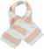 Morbida sciarpa misto lana con bande effetto pellicia e maglia rasata ido PANNA-ROSA - 8146