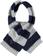 Morbida sciarpa misto lana con bande effetto pellicia e maglia rasata ido GRIGIO-BLU-8225